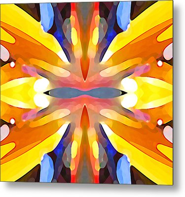 Abstract Paradise Metal Print by Amy Vangsgard