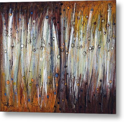 Abstract Patterns One Metal Print by Lynne Taetzsch