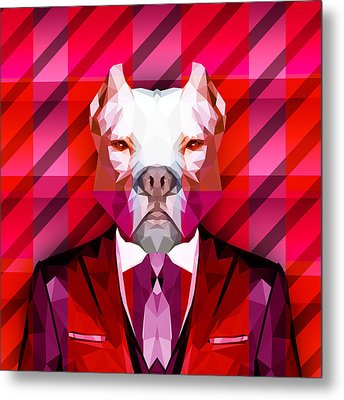 Abstract Pitbull 1 Metal Print by Gallini Design