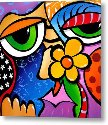 Abstract Pop Art Original Painting Scratch N Sniff By Fidostudio Metal Print