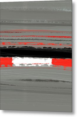 Abstract Red 4 Metal Print by Naxart Studio