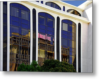 Abstract Reflections In Glass Tucson Arizona Metal Print