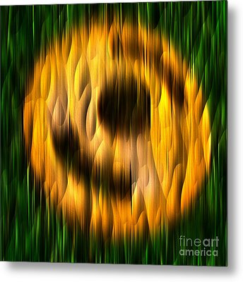 Ring Of Fire - Abstract Relief No. 16.0108-01 Metal Print