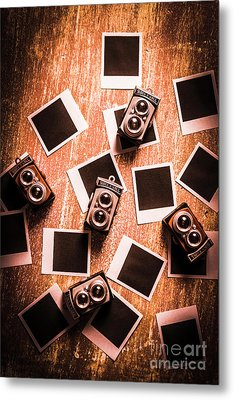 Abstract Retro Camera Background Metal Print