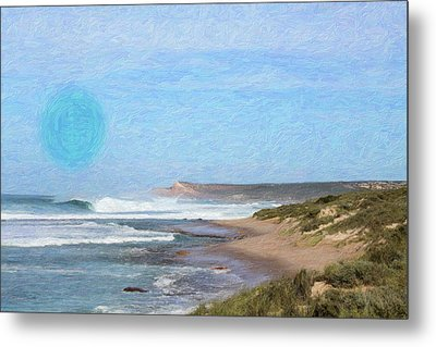 Abstract Seascape Metal Print by Adam Asar