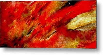 Metal Print featuring the painting Abstract-simple Red 3 by Sherri  Of Palm Springs