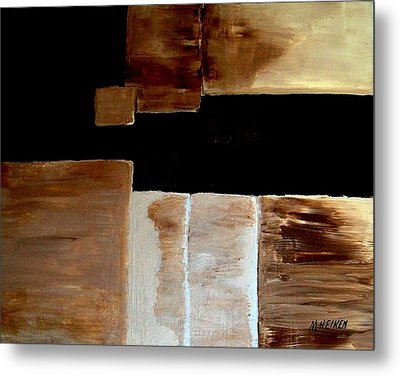 Abstract Squares Metal Print by Marsha Heiken