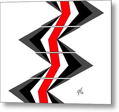 Abstract Stairs Metal Print by John Wills