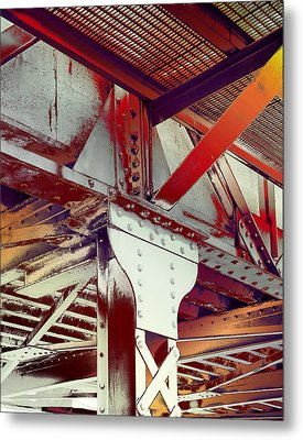 Metal Print featuring the photograph Grunge Steel Beam by Robert G Kernodle