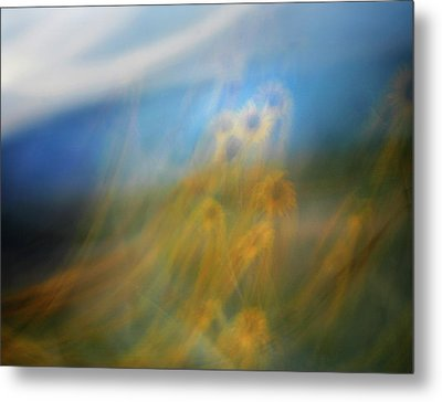 Abstract Sunflowers Metal Print by Marilyn Hunt