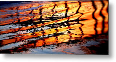 Abstract Sunset Metal Print by Bill Keiran
