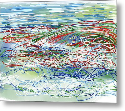 Abstract Surfer 42 Metal Print by Robert Yaeger