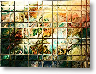 Abstract-through Glass Metal Print by Patricia Motley