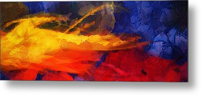 Abstract - Throw  Metal Print by Sir Josef - Social Critic -  Maha Art
