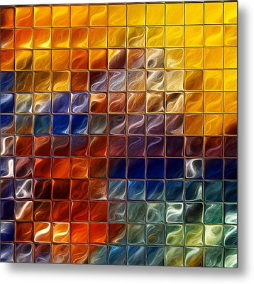 Abstract -tiles Metal Print by Patricia Motley