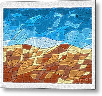 Abstract Tiles - Rocks And Sky No 14.0213 Metal Print