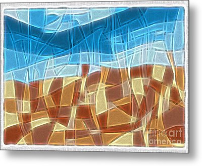 Abstract Tiles - Rocks And Sky No 16.041401 Metal Print