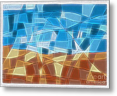 Abstract Tiles - Rocks And Sky No 16.041402 Metal Print