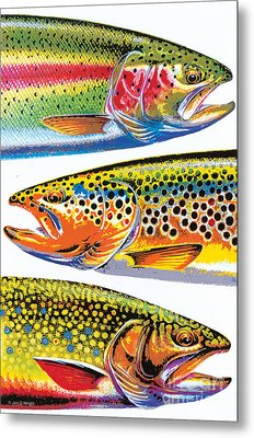 Abstract Trout Metal Print by JQ Licensing Jon Q Wright