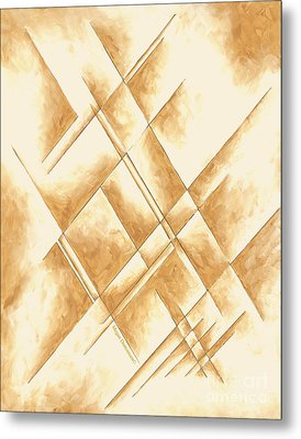 Abstract Unique Original Painting Contemporary Art Champagne Dreams II By Madart Metal Print by Megan Duncanson