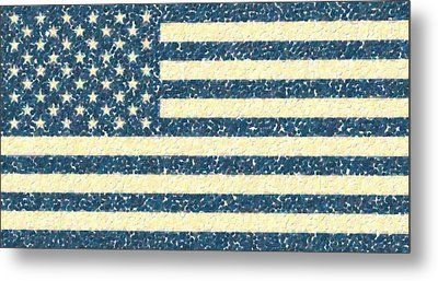 Abstract Usa Flag 2 Metal Print by Celestial Images