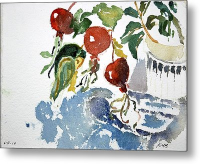 Abstract Vegetables 2 Metal Print