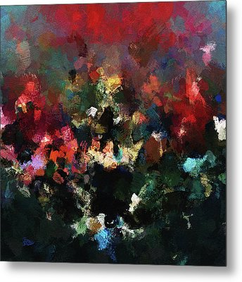 Metal Print featuring the painting Abstract Wall Art In Dark Colors by Ayse Deniz