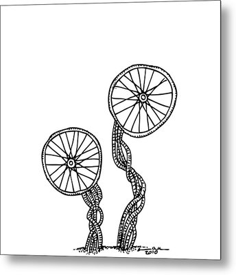 Abstract Wheels Metal Print by Karl Addison