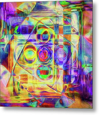 Abstract - Wheels Within Wheels Metal Print