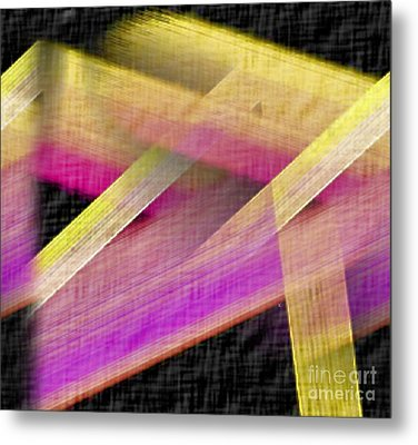 Abstract With A Black Background Metal Print by John Krakora