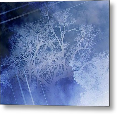 Abstract With Creepy Tree- Ghost Story Metal Print by Kristin Sharpe