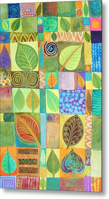 Abstract With Leaves Metal Print by Jennifer Baird