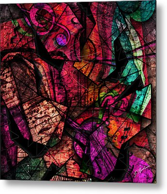 Abstracta_11 Cacophony In Z Minor Metal Print