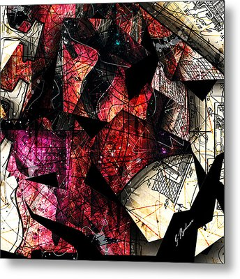 Abstracta_21 Stratavari Moderna Metal Print