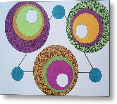 Metal Print featuring the drawing Abstracted Circles by Beth Akerman
