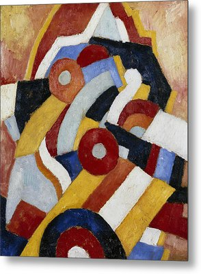 Abstraction Metal Print by Marsden Hartley
