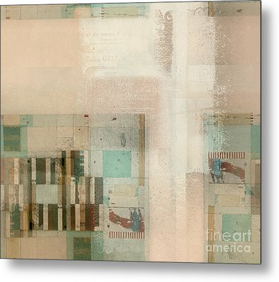 Metal Print featuring the digital art Abstractitude - C01b by Variance Collections