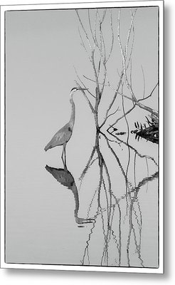 Abstracts On The Lake Metal Print by Carolyn Dalessandro