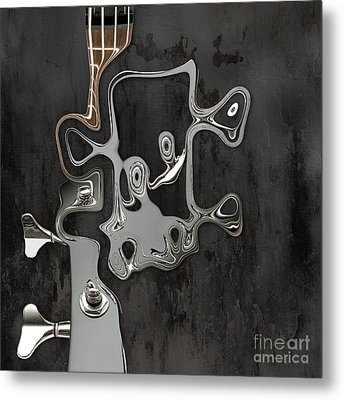 Metal Print featuring the digital art Abstrait En Sol Majeur  by Variance Collections