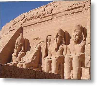 Abu Simbel Metal Print by Richard Deurer