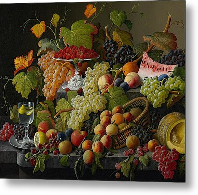 Abundant Fruit Metal Print