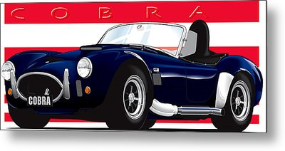 Ac Cobra Metal Print by Brian Gibbs