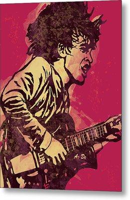 Ac/dc Pop Stylised Art Sketch Poster Metal Print