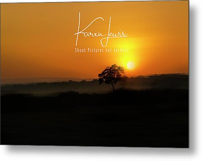 Metal Print featuring the photograph Acacia Tree Sunrise by Karen Lewis
