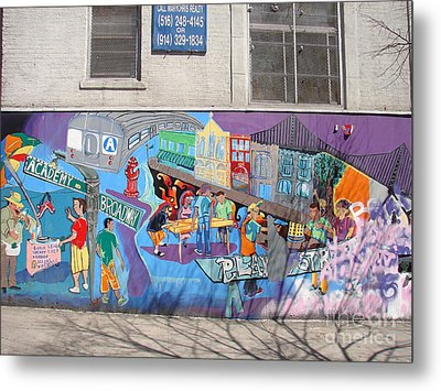 Metal Print featuring the photograph Academy Street Mural by Cole Thompson