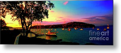 Metal Print featuring the photograph  Acadia Bar Harbor Sunset Cruises by Tom Jelen