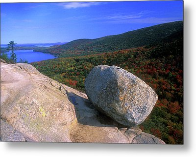 Acadia Bubble Rock Metal Print by John Burk