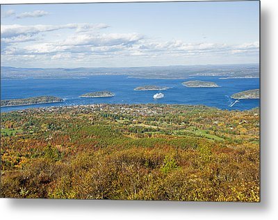 Acadia National Park In Autumn, Maine Metal Print by James Forte