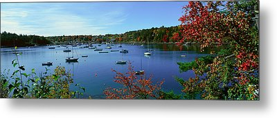 Acadia National Park In Autumn, Maine Metal Print by Panoramic Images