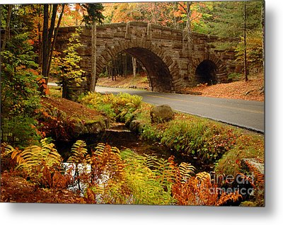 Metal Print featuring the photograph Acadia Stone Bridge by Alana Ranney
